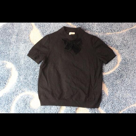 Kate Spade black bow sweater t shirt